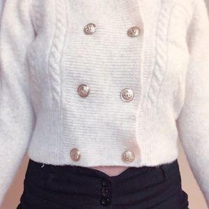 VINTAGE Off-White Susan Bristol Sweater